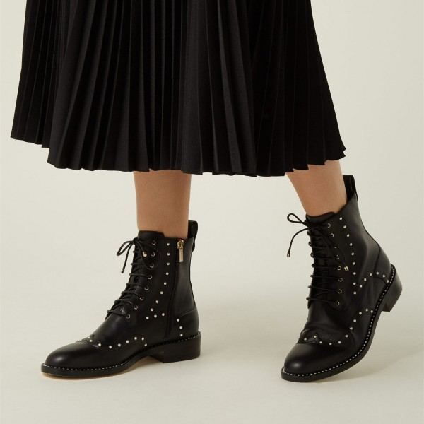 Black Pearl Lace Up Boots image 3