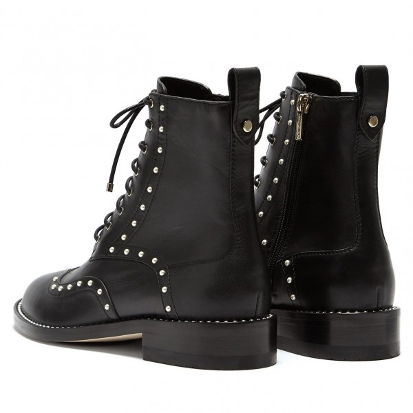 Black Pearl Lace Up Boots image 4