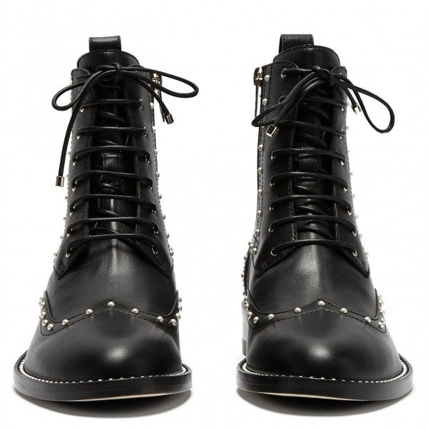 Black Pearl Lace Up Boots image 5