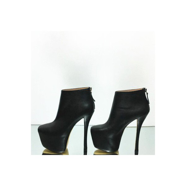 Black Platform Boots Fashion High Heel Booties for Women image 3
