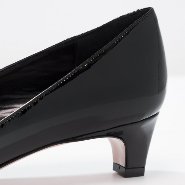 Black Pointy Toe Cone Heels Office Heels for Women image 3