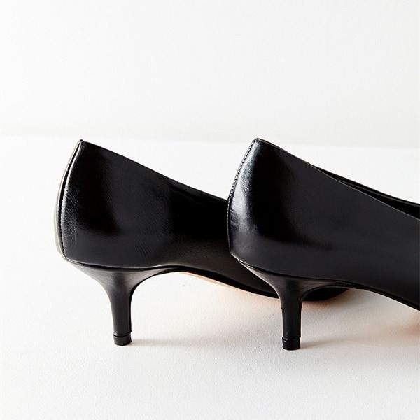 Black Pointy Toe Kitten Heels Vintage Shoes for Women image 4