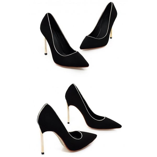 Women's Pointed Toe Leila Black Stiletto Heel Pumps Dress shoes image 3