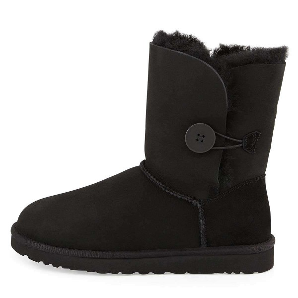 Black Suede Flat Winter Boots image 2