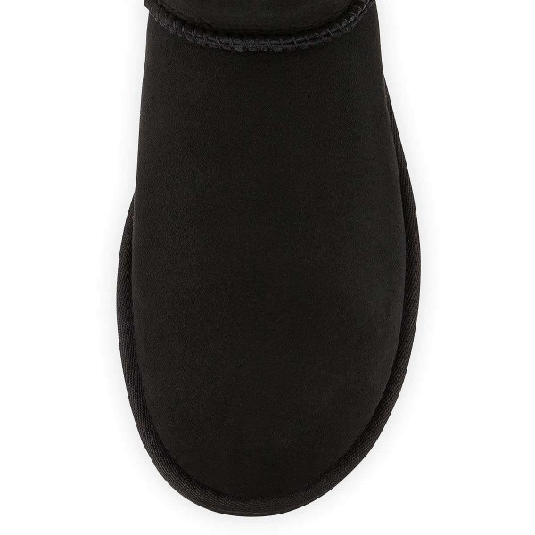 Black Suede Flat Winter Boots image 3