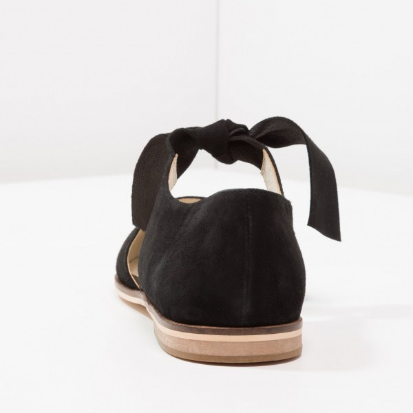 Black Suede Mary Jane Flats Round Toe Vintage Shoes image 4