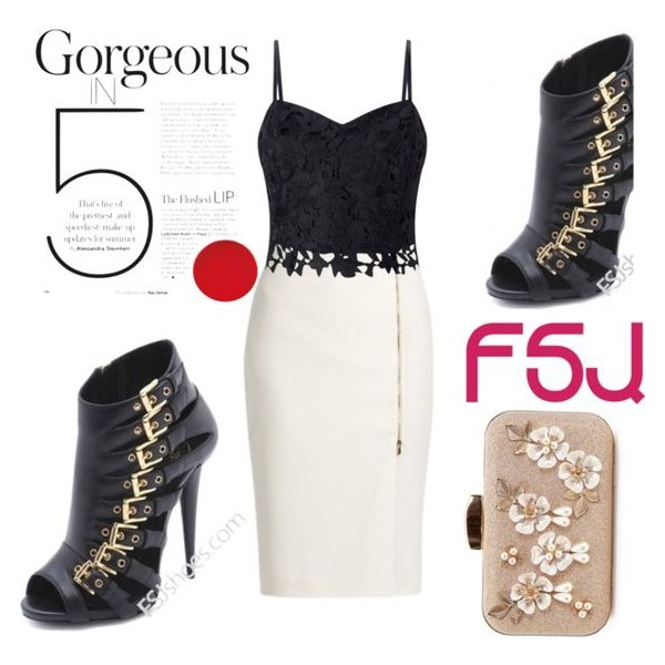 Black Peep Toe Fashion Summer Boots with Gold Buckles image 5