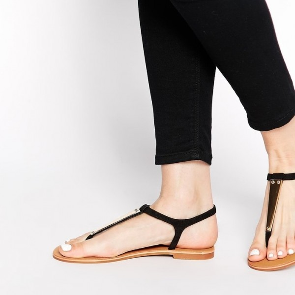 c6a9ea88083726 Black Thong Sandals Flat Summer Beach Sandals US Size 3-15 image 1 ...