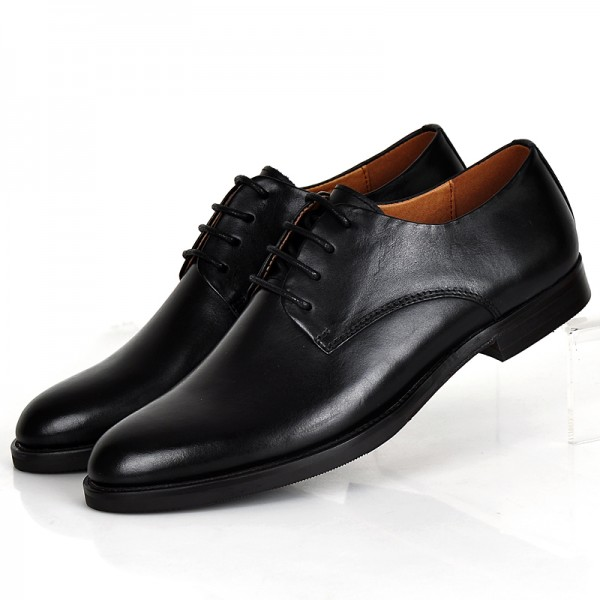 Black Women's Oxfords Lace-up Flats Vintage Formal Dress Shoes image 1