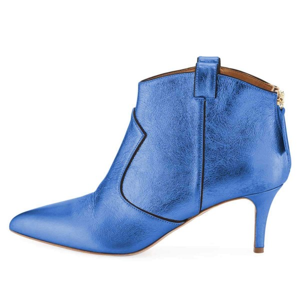 Blue Stiletto Boots Ankle Boots image 3