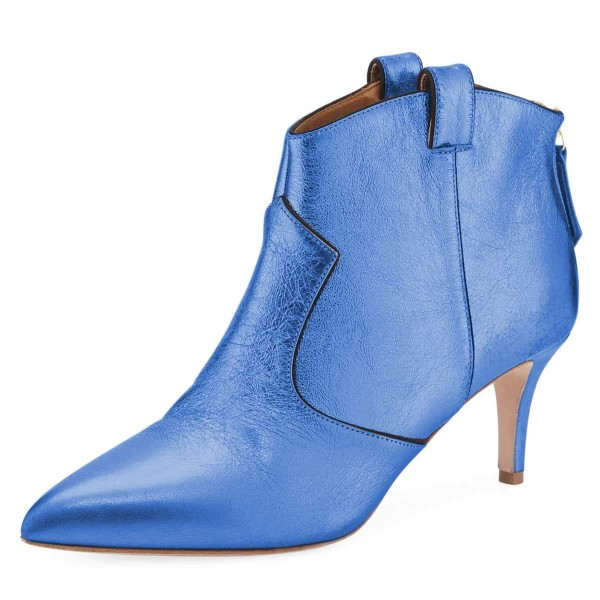 Blue Stiletto Boots Ankle Boots image 1