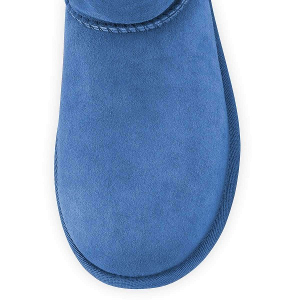 Blue Suede Flat Winter Boots image 3