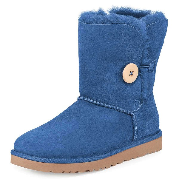 Blue Suede Flat Winter Boots image 1