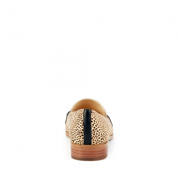 Leopard Print Slip-on Flat Penny Loafers for Women image 2