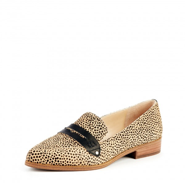 Leopard Print Slip-on Flat Penny Loafers for Women image 1