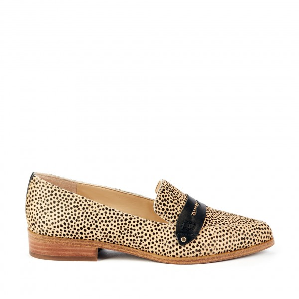 Leopard Print Slip-on Flat Penny Loafers for Women image 3