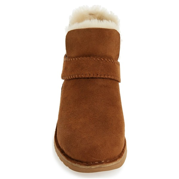 Camel Winter Boots Flat Round Toe Suede Comfy Short Boots US Size 3-15 image 2