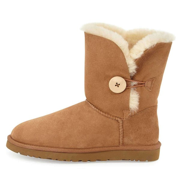 Camel Suede Flat Winter Boots image 2