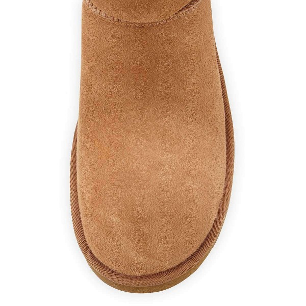 Camel Suede Flat Winter Boots image 3