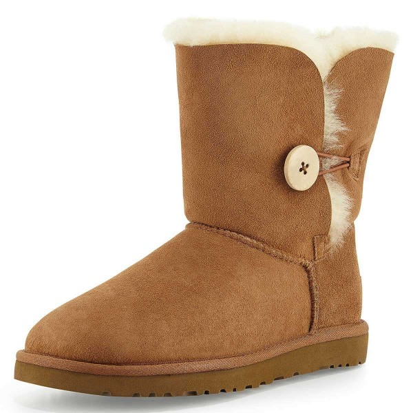 Camel Suede Flat Winter Boots image 1