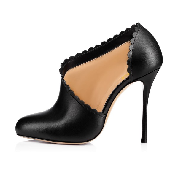 Women's Black Commuting Stiletto Heels Round Toe  Ankle Booties  image 2