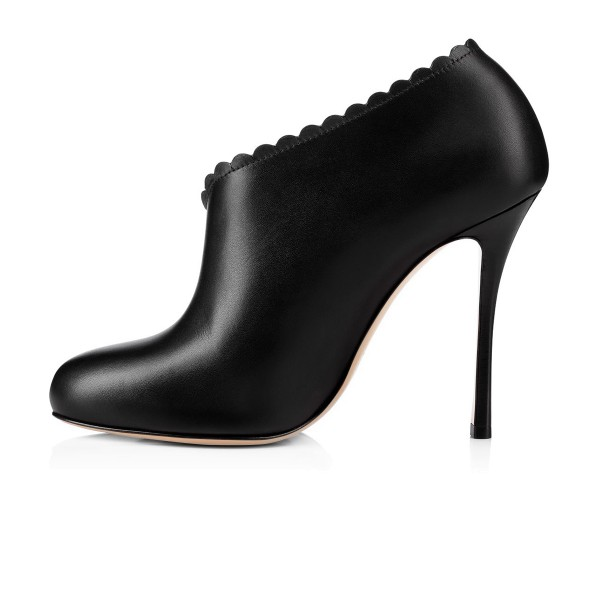 Women's Black Commuting Stiletto Heels Round Toe  Ankle Booties  image 3