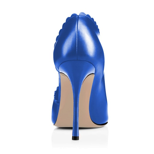 Women's Blue Summer Boots Commuting Stiletto Heels Round Toe  Ankle Booties  image 2