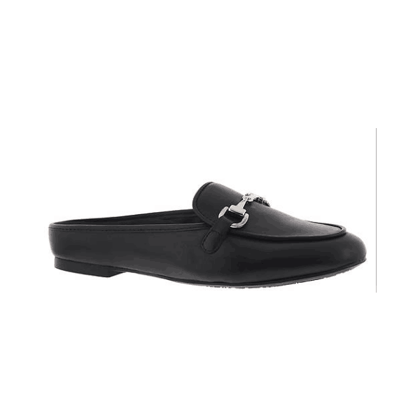 Custom Made Black Loafer Mules image 1