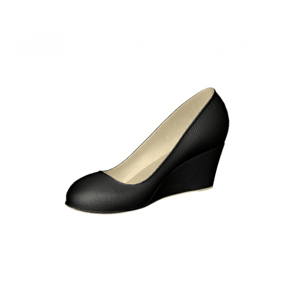 Custom Made Black Wedge Pumps image 1