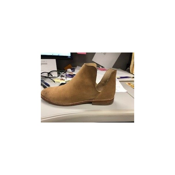 ed571c48688a4 Custom Made Tan Cut Out Ankle Boots for Date | FSJ