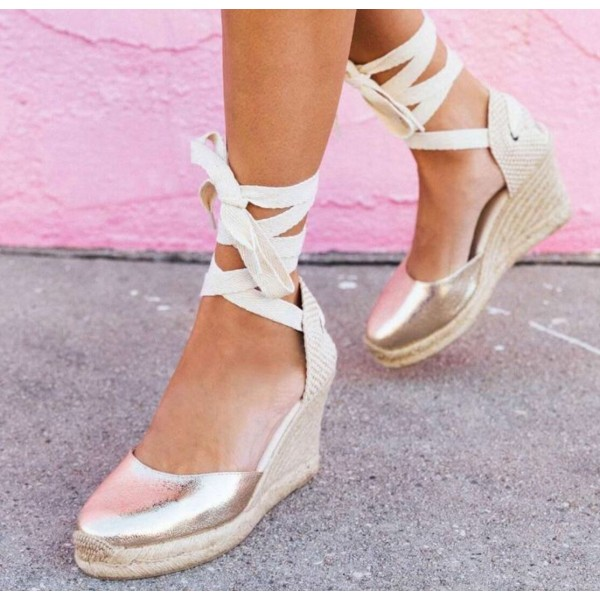 Custom Made Strappy Espadrille Sandals image 1