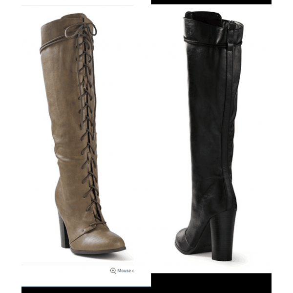 Custom Made Vintage Lace up Chunky Heel Knee High Boots image 1