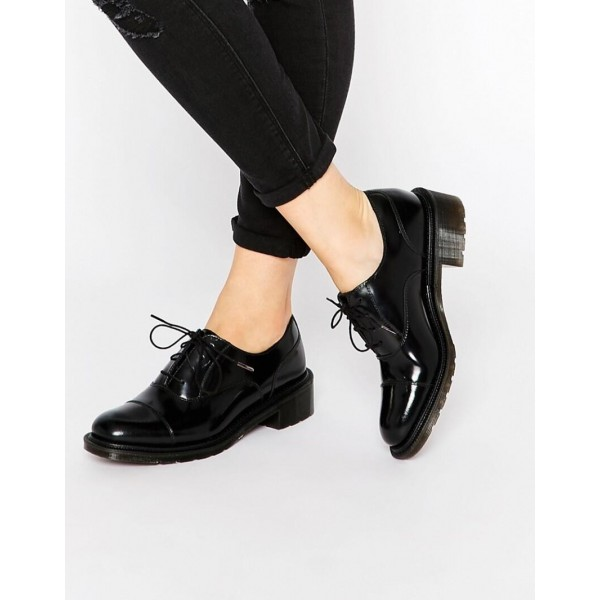Black Patent Leather Oxfords