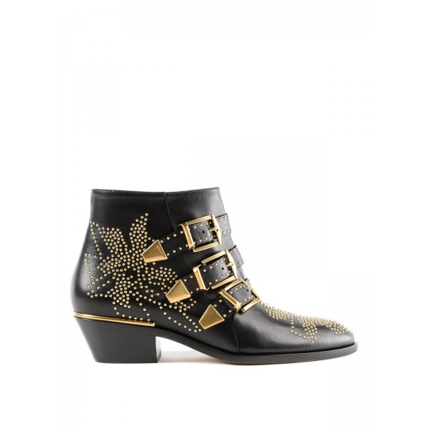 Custom Made Black Studded Buckle Boots image 2