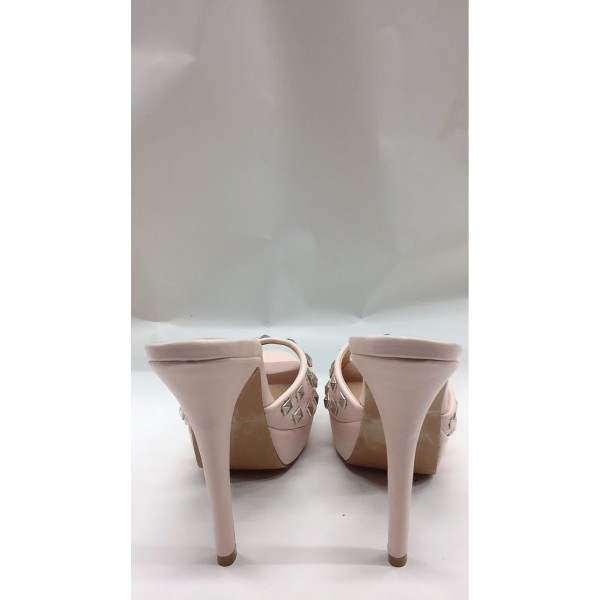 Custom Made Blush Rock Studs Mules image 2