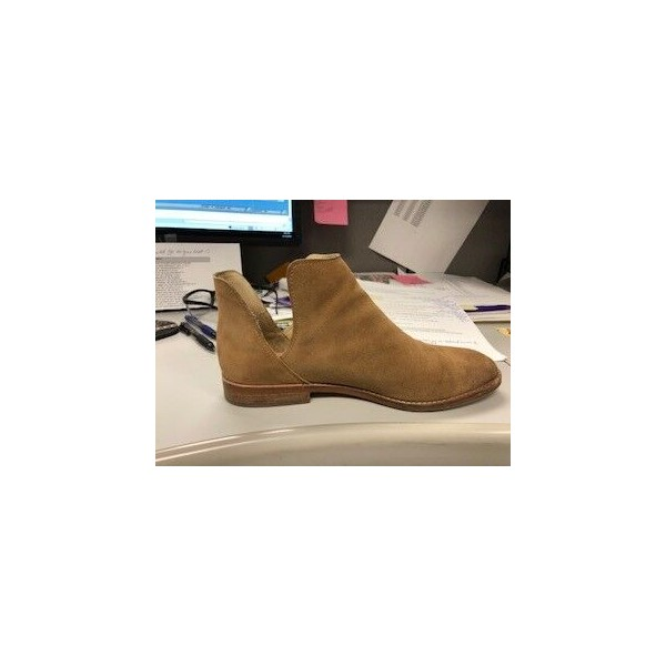 Custom Made Tan Cut Out Ankle Boots image 2