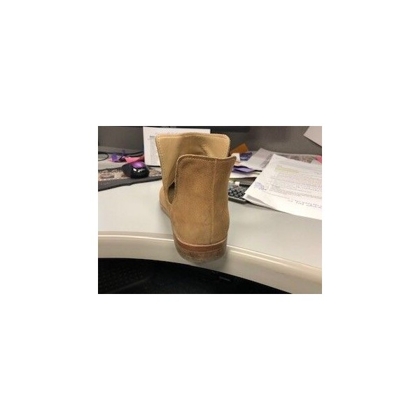Custom Made Tan Cut Out Ankle Boots image 3