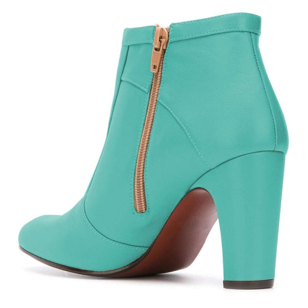 Cyan Ankle Boot chunky Heel Boots image 3