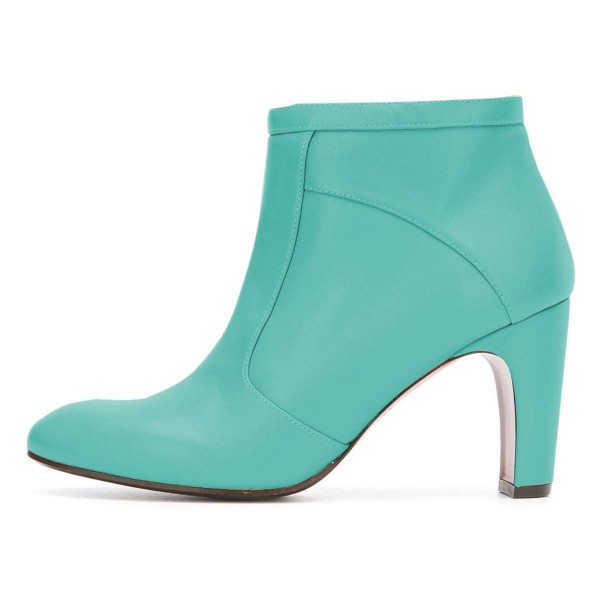 Cyan Ankle Boot chunky Heel Boots image 2