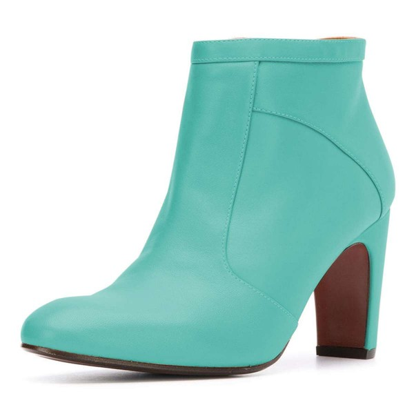 Cyan Ankle Boot chunky Heel Boots image 1