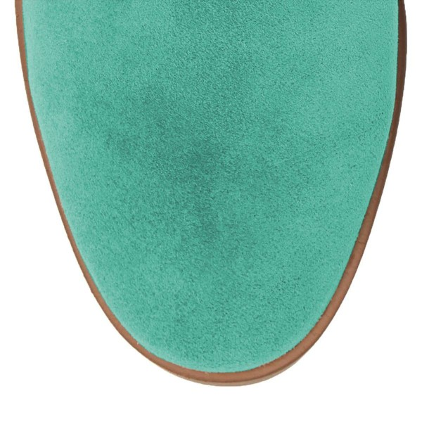 Cyan Suede Studs Knee Boots Knee-high Boots image 5