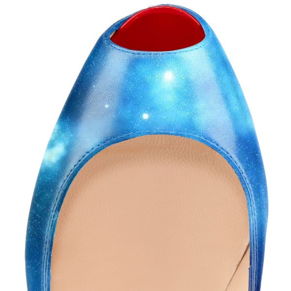 Royal Blue Astral Pumps 5 Inch Platform High Heels image 2