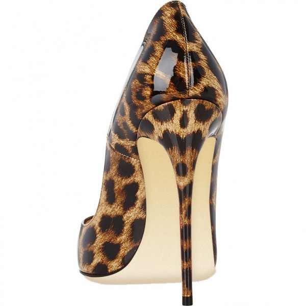 Women's Leopard Printed  Pumps Heels Stilettos 4 Inches High Heels Shoes image 4