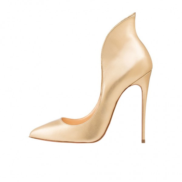 Tammy Golden Stiletto Heel ELegant Pumps image 2
