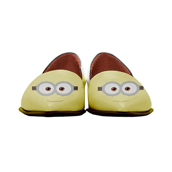 Women's Minions Comfortable Pointed Toe Flats Slip-on Dorsay Pumps  image 2
