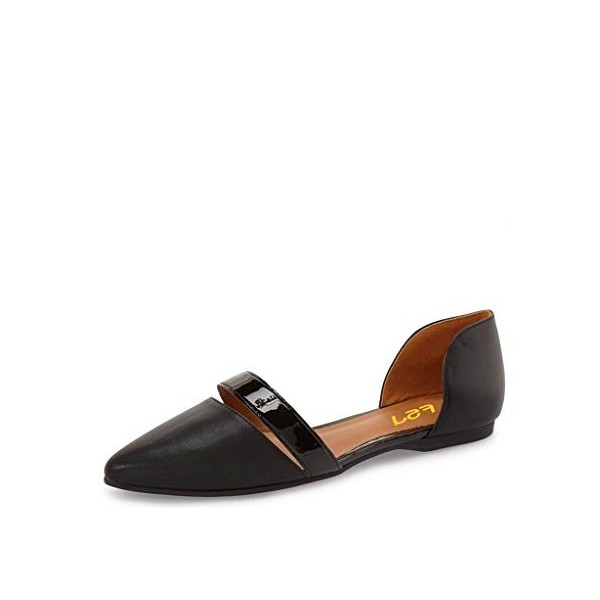 Black Comfortable Flats Pointy Toe School  Shoes image 1