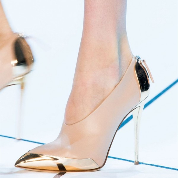 Gold And Nude Heels