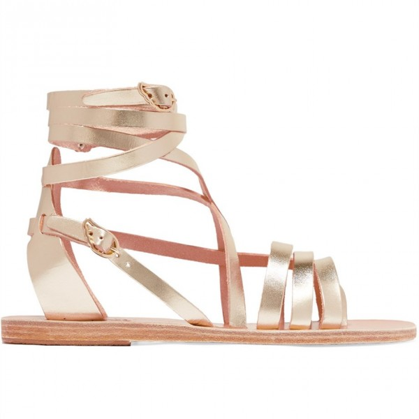Gold Gladiator Sandals Open Toe Summer Strappy Sandals image 3
