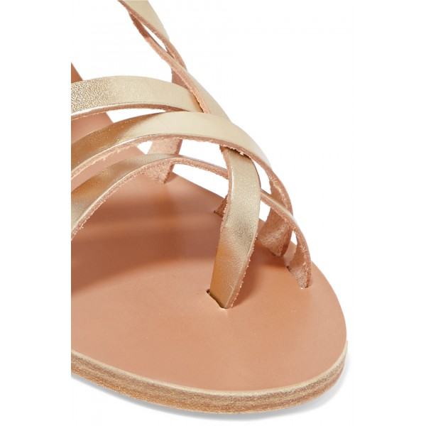 Gold Gladiator Sandals Open Toe Summer Strappy Sandals image 5