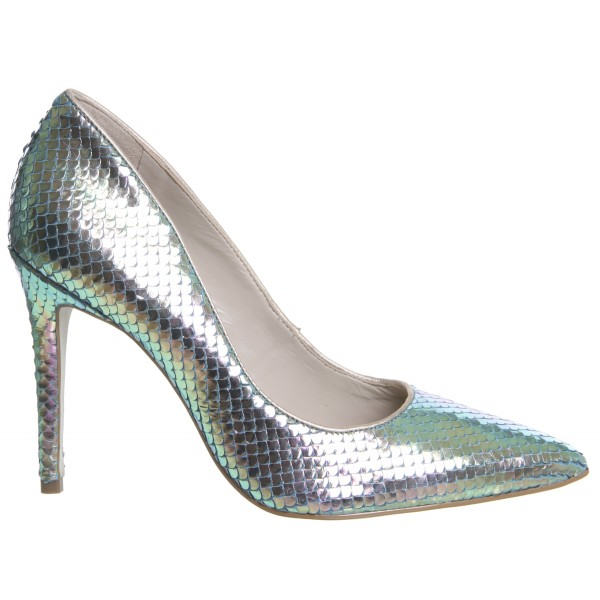 Green Holographic Fish-scale Stiletto Heels Mermaids High Heels Pumps image 3